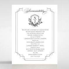 Paper Regal Enchantment wedding stationery accommodation enclosure invite card design