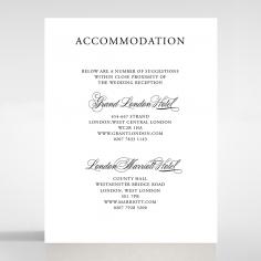 Paper Timeless Romance accommodation card design