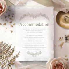 Preppy Wreath accommodation invitation card design