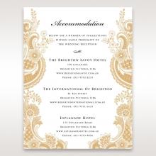 Prosperous Golden Pocket wedding accommodation enclosure invite card design