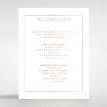 Quilted Grace wedding accommodation enclosure card design