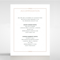 Quilted Grace wedding stationery accommodation invitation card design