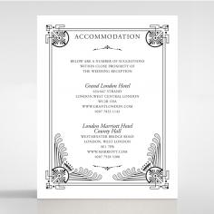 Regal Frame accommodation wedding card