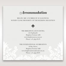 Regal Romance accommodation invite card design