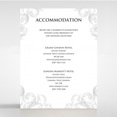 Regally Romantic accommodation enclosure stationery card