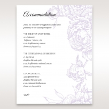 Romantic Rose Pocket wedding accommodation enclosure invite card