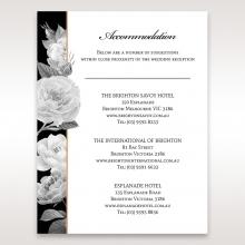 Rose Gold Flowers wedding stationery accommodation invite
