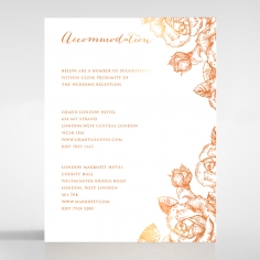 Rose Romance Letterpress with foil wedding accommodation invitation card design