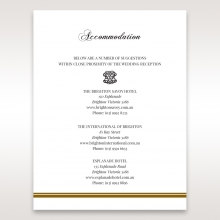 Royal Elegance accommodation stationery invite