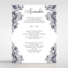 Royal Embrace accommodation stationery invite