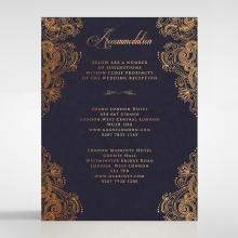 Royal Embrace wedding stationery accommodation enclosure card