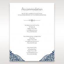 Royal Frame wedding accommodation invitation