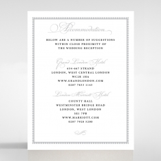 Royal Lace wedding accommodation enclosure card