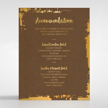 Rusted Charm wedding stationery accommodation enclosure invite card