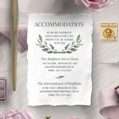 Rustic Affair accommodation enclosure invite card design