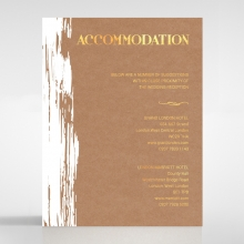 Rustic Brush Stroke  with Foil accommodation wedding card design