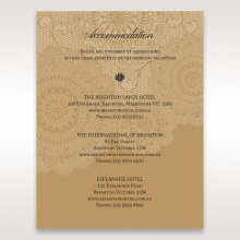 Rustic Charm wedding accommodation invite