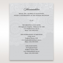 Rustic Lace Pocket wedding accommodation invite card