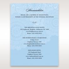 Rustic Lace Pocket wedding accommodation invitation card design
