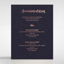 Rustic Lustre accommodation invite card