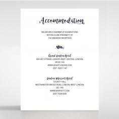 Rustic Lustre wedding stationery accommodation invitation card design