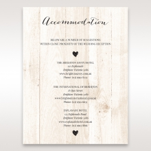 Rustic Woodlands wedding accommodation enclosure card