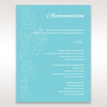 Seaside splendour accommodation wedding invite card