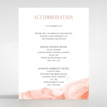 Serenity Marble accommodation enclosure card