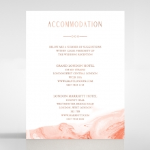 Serenity Marble accommodation enclosure card design