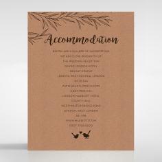 Springtime Love wedding accommodation invitation card design