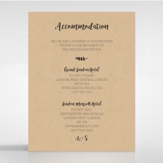 Sweetly Rustic accommodation invitation