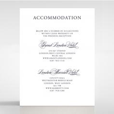 Timeless Romance wedding accommodation invite card design