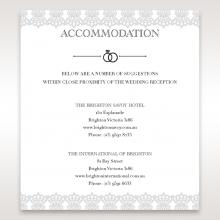 Traditional Romance wedding accommodation invite card