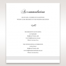Unique Grey Pocket with Regal Stamp wedding stationery accommodation invitation card