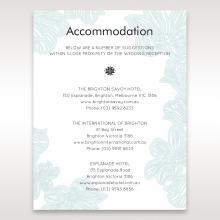 Vibrant Flowers wedding stationery accommodation enclosure card