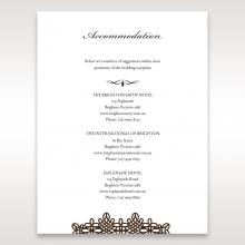 Victorian Charm accommodation invite card design