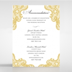 Victorian Lace accommodation enclosure stationery invite card