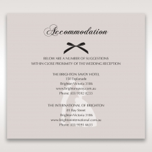 Wedded Bliss accommodation invite card