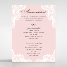 White Lace Drop wedding stationery accommodation card
