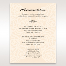Wild Laser cut Flowers accommodation enclosure card