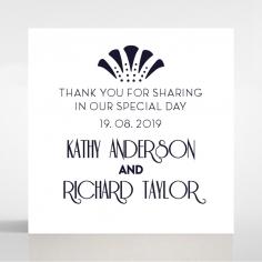 Art Deco Allure wedding gift tag design