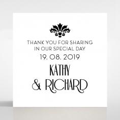 Art Deco Romance gift tag design