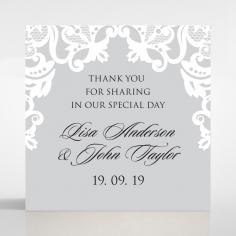 Black Divine Damask wedding gift tag stationery design