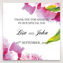 Black Framed Floral Pocket wedding gift tag stationery design