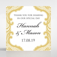 Black Lace Drop wedding stationery gift tag design