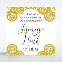 Breathtaking Baroque Foil Laser Cut wedding gift tag stationery design