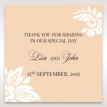 Classic White Laser Cut Sleeve wedding gift tag design