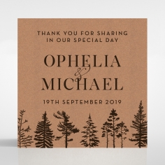 Delightful Forest Romance wedding gift tag stationery