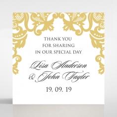 Divine Damask wedding gift tag design
