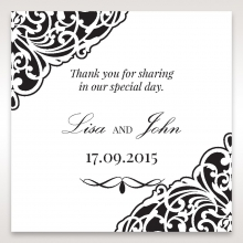 Elegance Encapsulated Laser cut Black wedding stationery gift tag